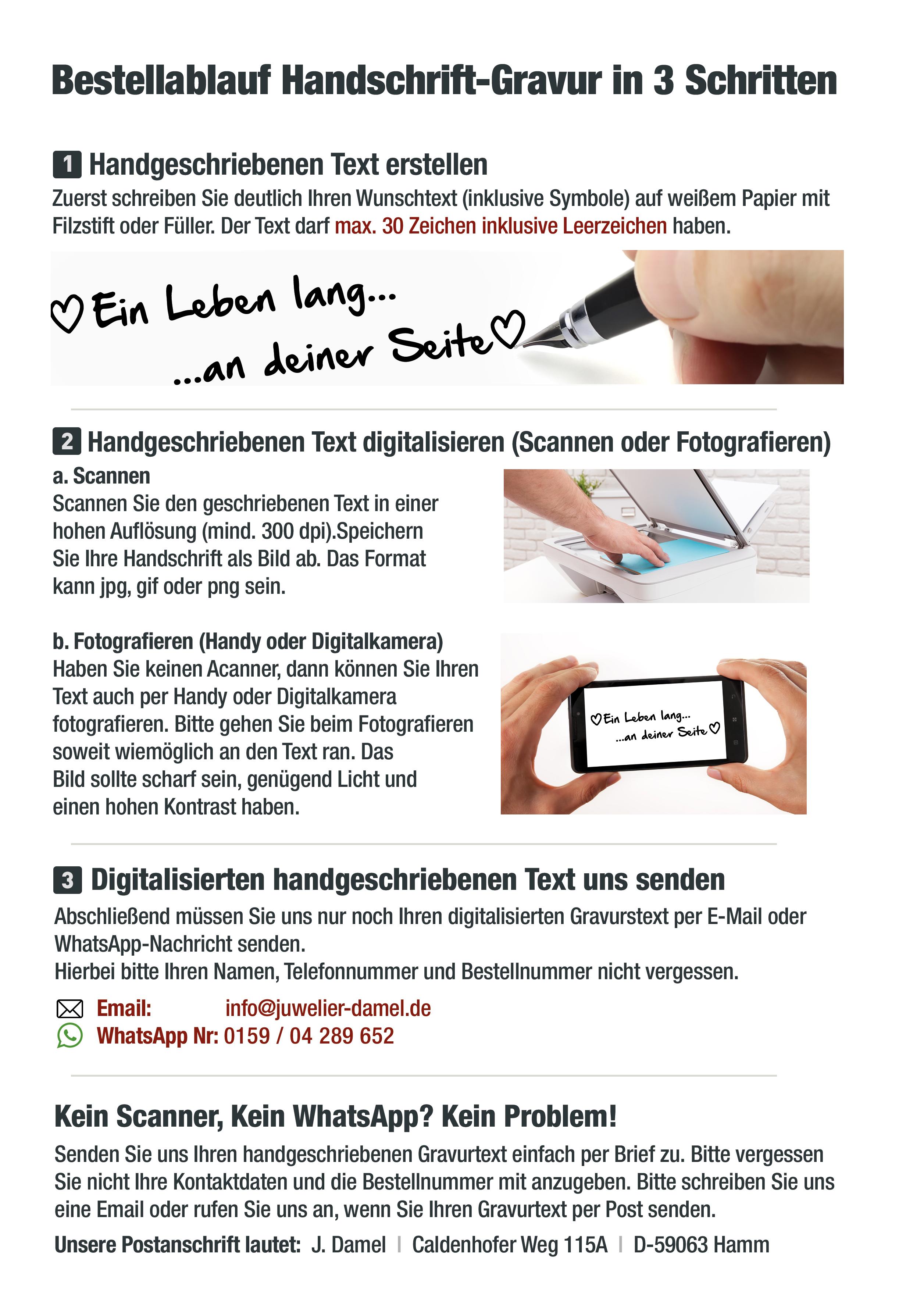PE207HH Herren Eheringe aus Edelstahl Ihre Handschrift als Gravur!